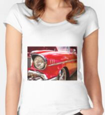 Chrome eyebrows - Belair Women's Fitted Scoop T-Shirt