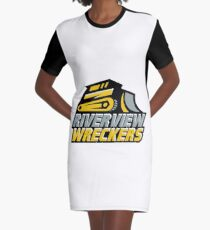 The Riverview Wreckers Logo Graphic T-Shirt Dress