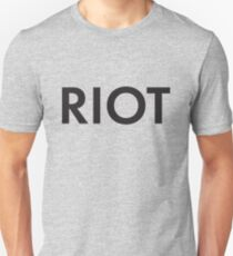 RIOT black Slim Fit T-Shirt