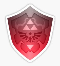 Flaming Hylian Shield Sticker