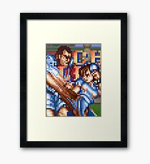 Kick/punch Framed Print