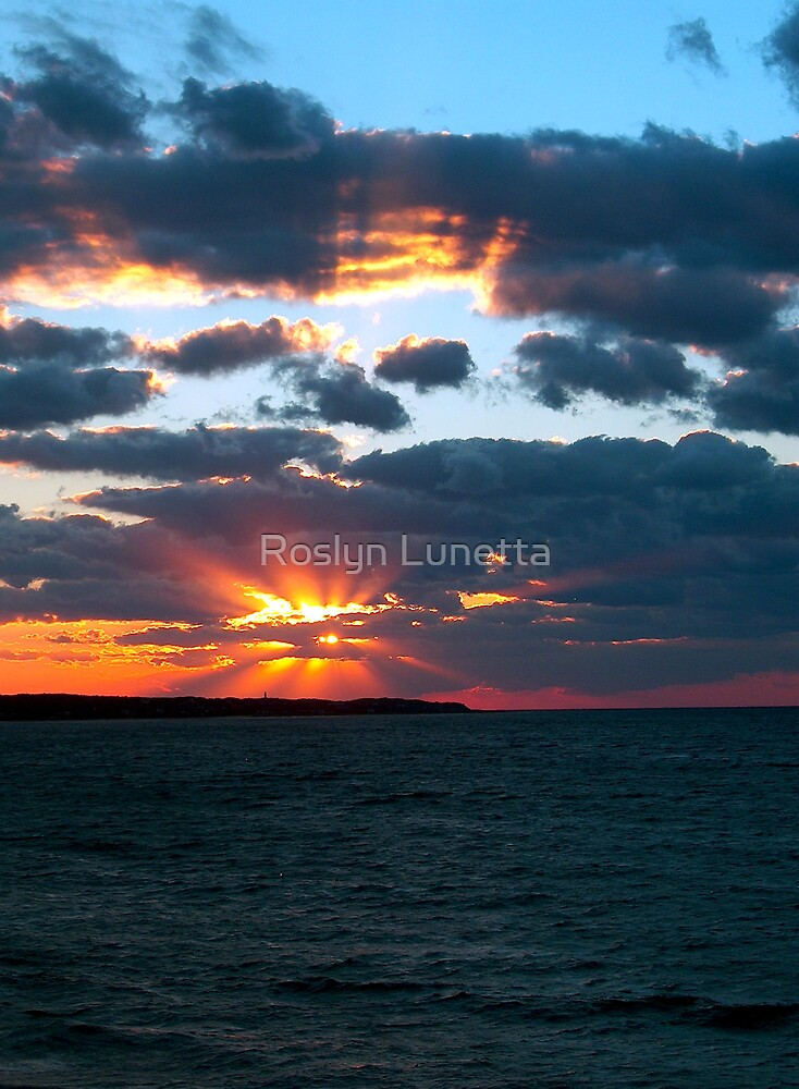 Fall sunset over Aquinnah by Roslyn Lunetta