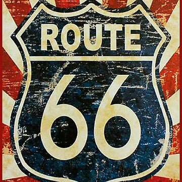 Route 66 t-shirt by wellcesar