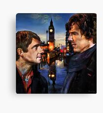 John and Sherlock in London Canvas Print