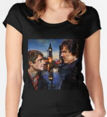 John and Sherlock in London Women's Fitted Scoop T-Shirt
