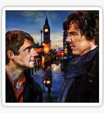 John and Sherlock in London Sticker