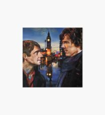 John and Sherlock in London Art Board