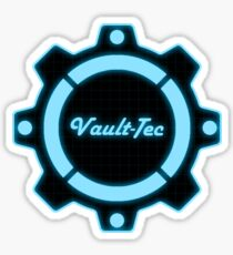 Blue Vault-Tec Gear Sticker