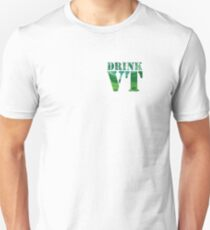 Drink Vermont Mountains Beer Green Unisex T-Shirt