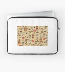 Cofee Pattern Laptop Sleeve