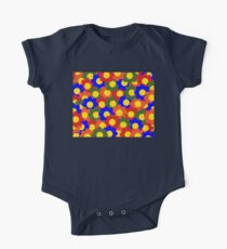 Colorful Flowers Red Blue Green Orange One Piece - Short Sleeve