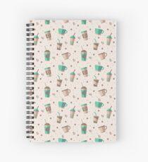 Cofee Pattern Spiral Notebook