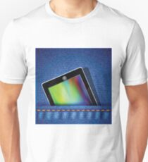 tablet computer on jeans background T-Shirt