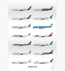 Póster Airbus A350 Operators Illustration