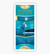 Space Infographic - Europa Sticker