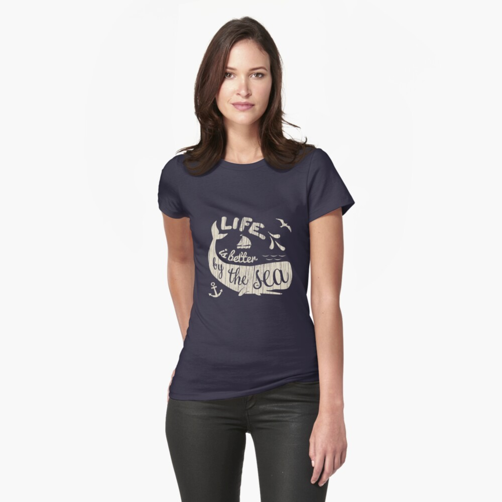 Life is Better By The Sea Women's T-Shirt Front