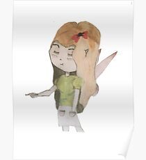 Fairy Girl With Art Pencil Poster