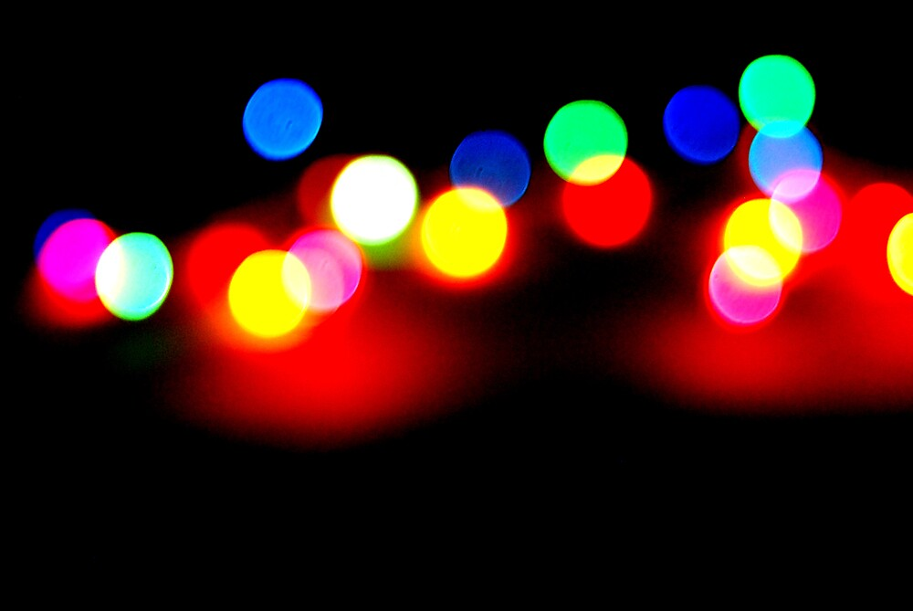 multicolored christmas lights by laurenpagni