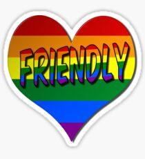 Gay Friendly Love Heart Symbol Sticker