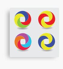 set of round icons Canvas Print