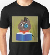 cat reading a book T-Shirt
