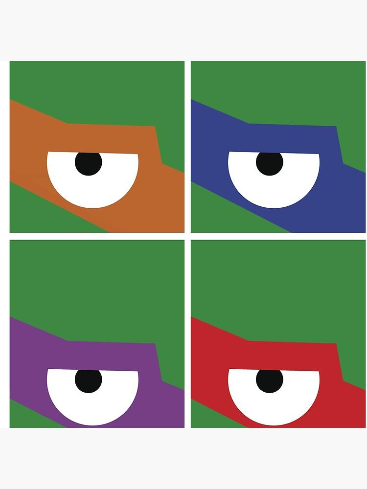 Ninja Turtles Cowabunga Warhol von Beat-Steve