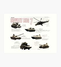 Military Infographic - The Soviet Big 7 (1981) Art Print