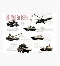 Military Infographic - The Soviet Big 7 (1981) Photographic Print