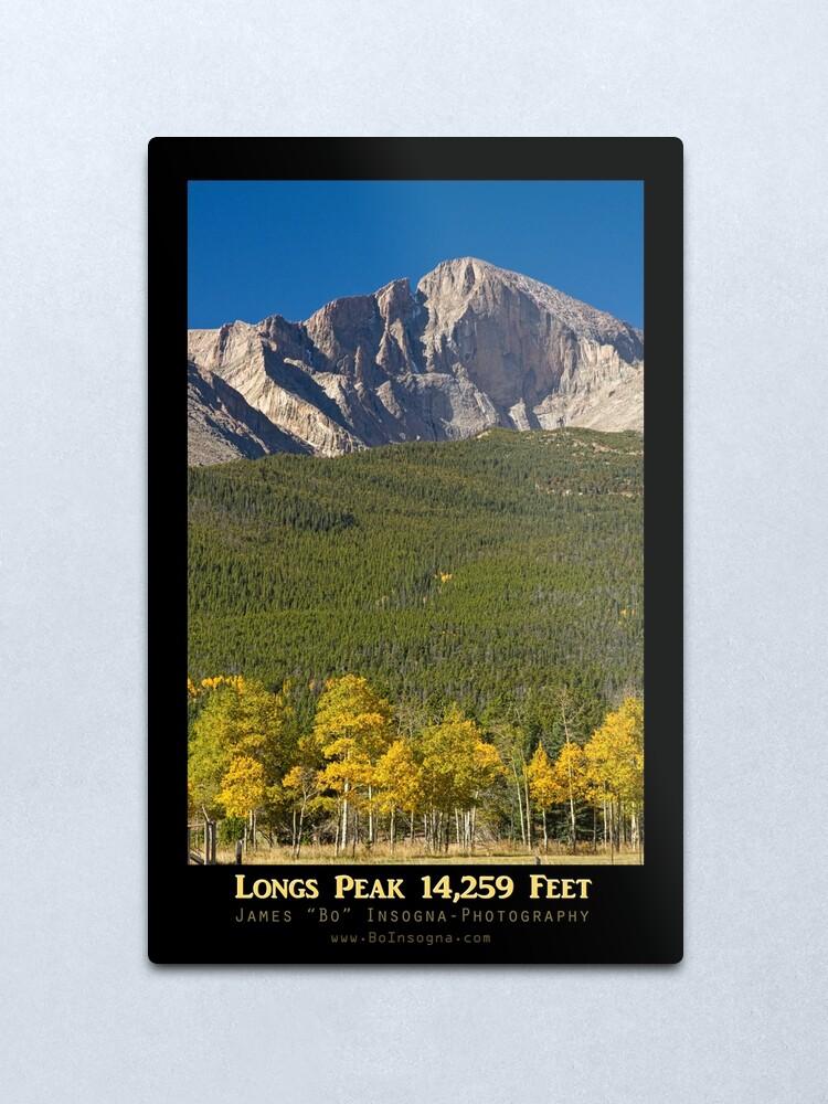 Alternate view of Golden Longs Peak 14259 Poster Metal Print