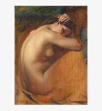 Henri Lehmann - Study Of A Female Nude Photographic Print