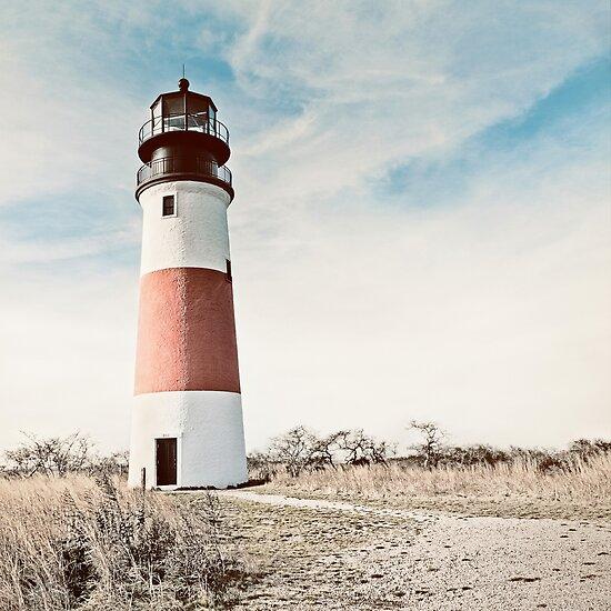 Sankaty Head Lighthouse on the island of Nantucket MA by Marianne Campolongo