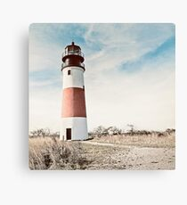 Sankaty Head Lighthouse on the island of Nantucket MA Canvas Print