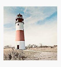 Sankaty Head Lighthouse on the island of Nantucket MA Photographic Print