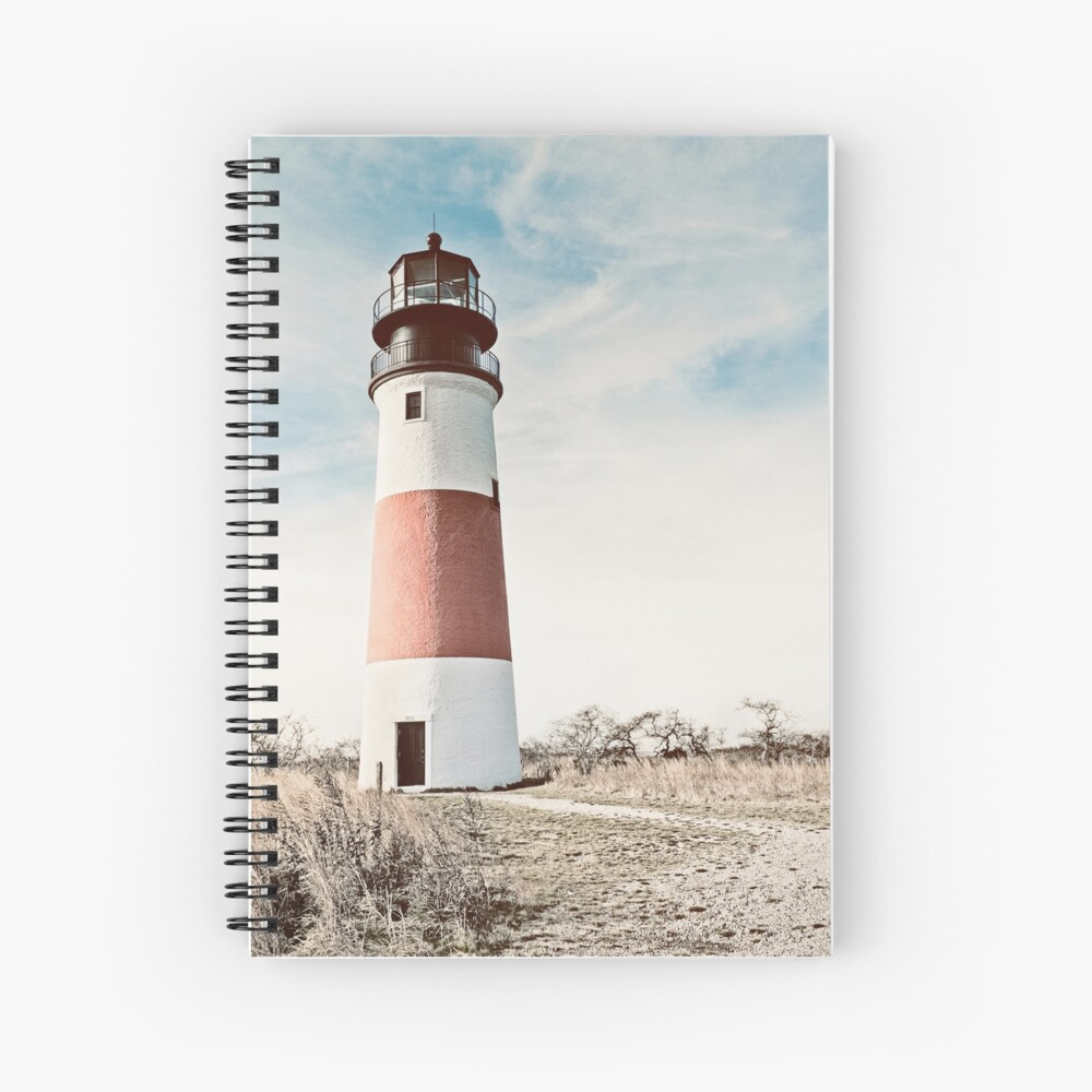 Sankaty Head Lighthouse en la isla de Nantucket MA Cuaderno de espiral