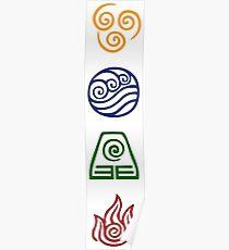 Bending Symbols Poster