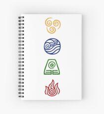Bending Symbols Spiral Notebook
