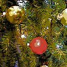 Comic Abstract Christmas Tree Bulbs by steelwidow
