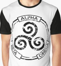 Alpha Beta Omega (Black) - Teen Wolf Graphic T-Shirt