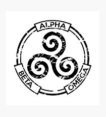 Alpha Beta Omega (Black) - Teen Wolf Photographic Print