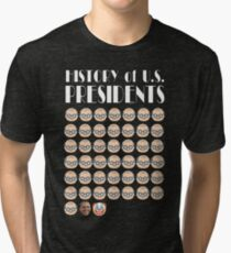 History of US Presidents Tri-blend T-Shirt