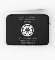 A Little Help From Others Can Be A Great Blessing - Iroh Quote Laptop Sleeve