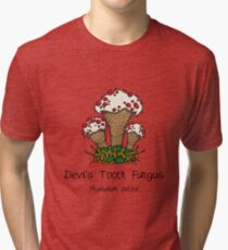 Devil's Tooth Fungus (without smiley face) Tri-blend T-Shirt