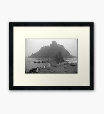 Penguin Gothic Framed Print