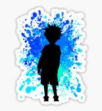 Killua Inspired Paint Splatter Anime Shirt Sticker