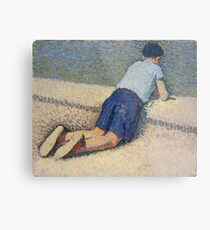 Henri Martin - The Boy Laying On The Board Of The Pool At The Garden Of Luxembourg At Paris, 1932-35 Metal Print