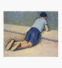 Henri Martin - The Boy Laying On The Board Of The Pool At The Garden Of Luxembourg At Paris, 1932-35 Photographic Print