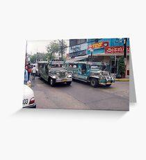 Philippine jeepneys.  Greeting Card