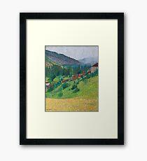 Henri Martin - The Heights Of Labastide-Du-Vert With The House Of M. Pellet Framed Print