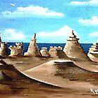 Sandy Beach & Castles by WhiteDove Studio kj gordon
