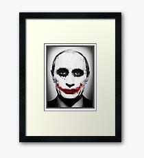 Putin Joker Framed Print